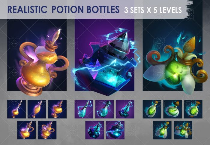 Potion Bottles Icons