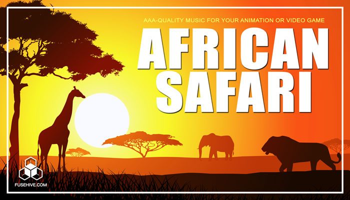 African Safari Music Library – Africa Savanna Grasslands Tribal Wildlife Royalty Free Audio Pack