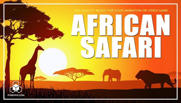 African Safari Music Library – Africa Savanna Grasslands Tribal Wildlife Royalty Free Audio Pack