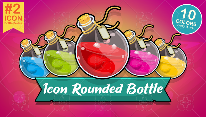Rounded Potion Bottle