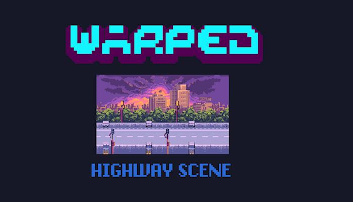 Warped Highway Scene