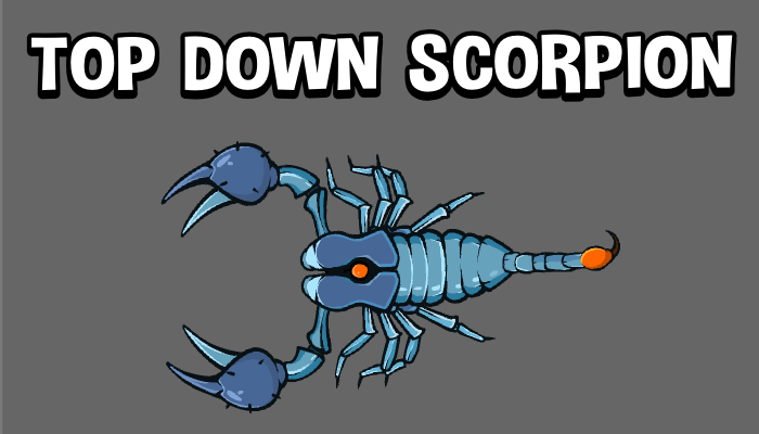 Top down animated scorpion game sprite