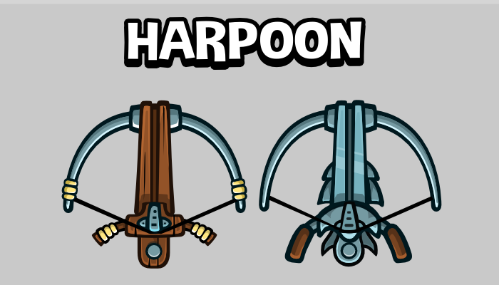 Animated harpoon game sprite