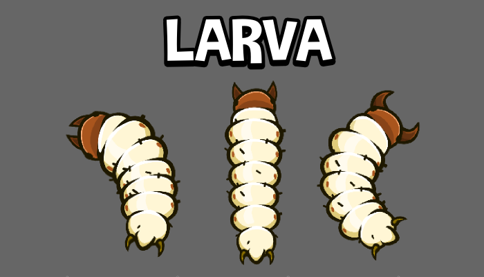 Animated insect lava game sprite