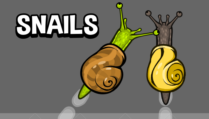 Animated top down snail game asset