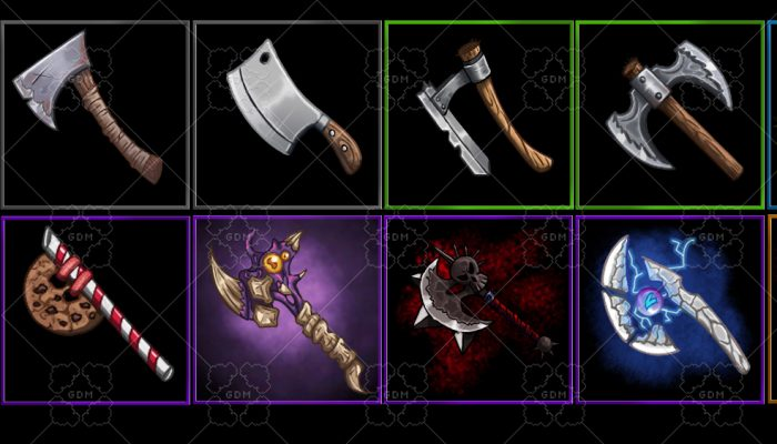 Fantasy weapons