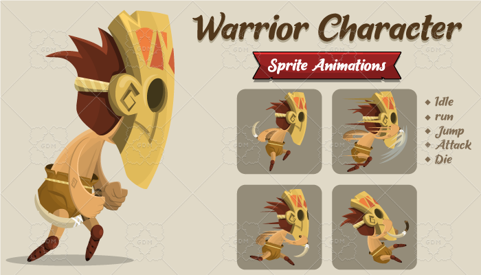 Warrior Character Sprite Animation