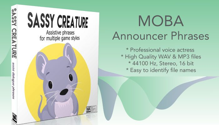 Sassy Character – MOBA Style Voicepack
