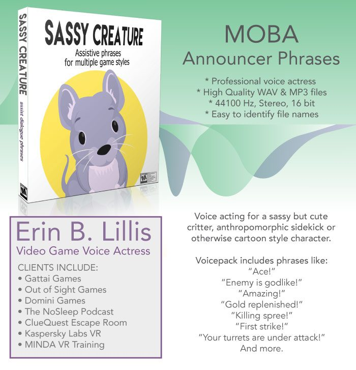 Sassy Creature – MOBA Style Voicepack