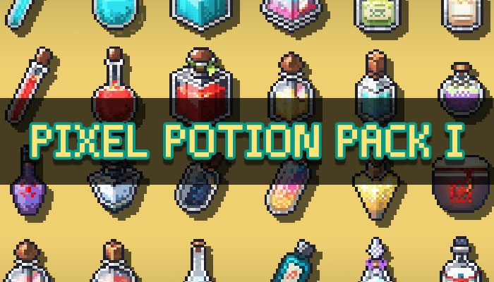 2D Pixel Art Potion Pack I
