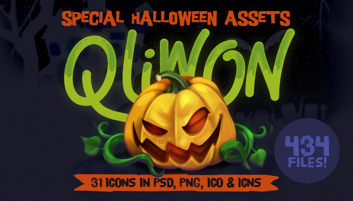 QLIWON – Halloween Icon Set