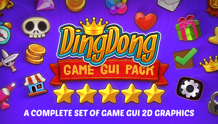DINGDONG - Game GUI Pack - GameDev Market