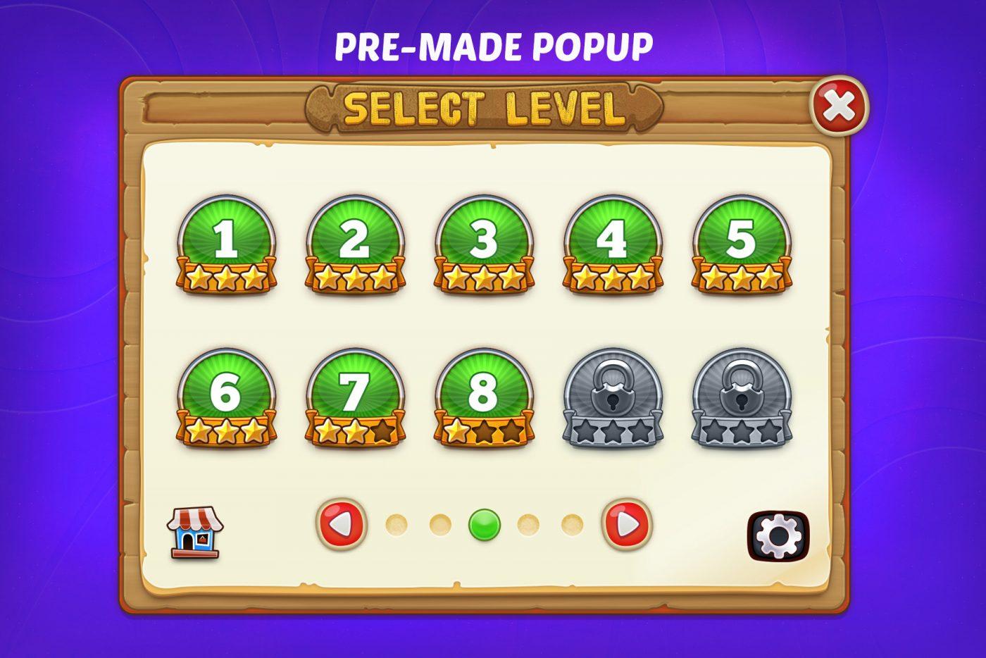 DINGDONG - Game GUI Pack - GameDev Market