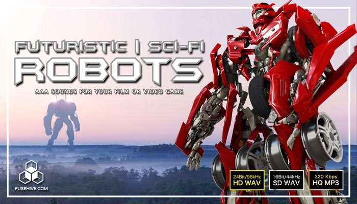 TRANSFORMING MACHINES and FUTURISTIC SCI-FI ROBOTS Sound Effects Library – Transformer Mech Warriors SFX Audio Pack