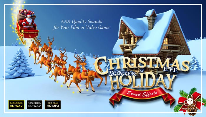 Christmas Eve & Winter Holiday Sound Effects Library – Magic Snow Theme Royalty Free SFX Audio Pack
