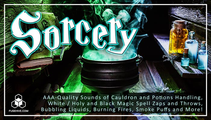 Sorcery Magic Sound Effects Library – Fantasy Witch Potions & Spells Royalty Free SFX Audio Pack
