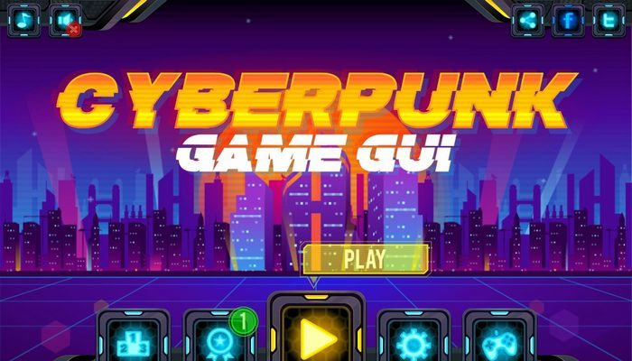 Cyberpunk Game GUI