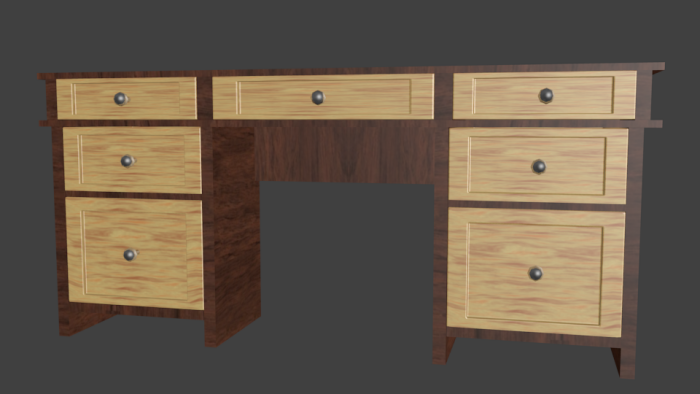 Office Desk With Openable Drawers