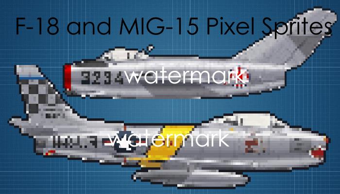 Pixel F-86 Sabre and MIG-15