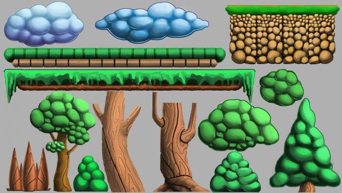 basic platformer assets