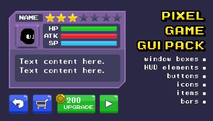 Pixel Game GUI Pack