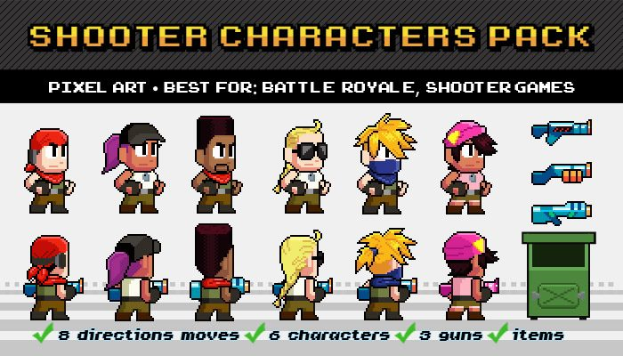 Shooter / Battle Royale – Characters Pack