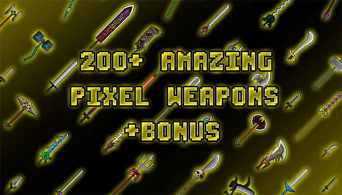 201 AMAZING PIXEL WEAPONS PACK WITH BONUS