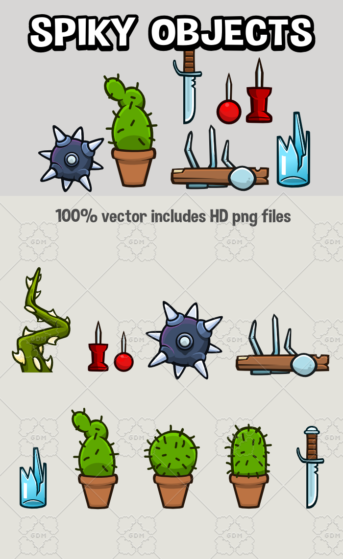 Spiky game objects