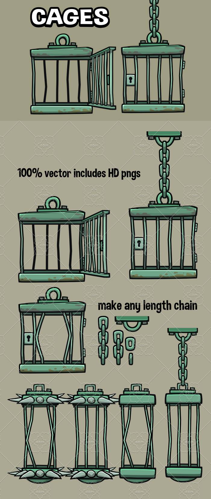 Cages game assets