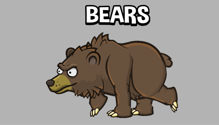 Animated bear game sprite