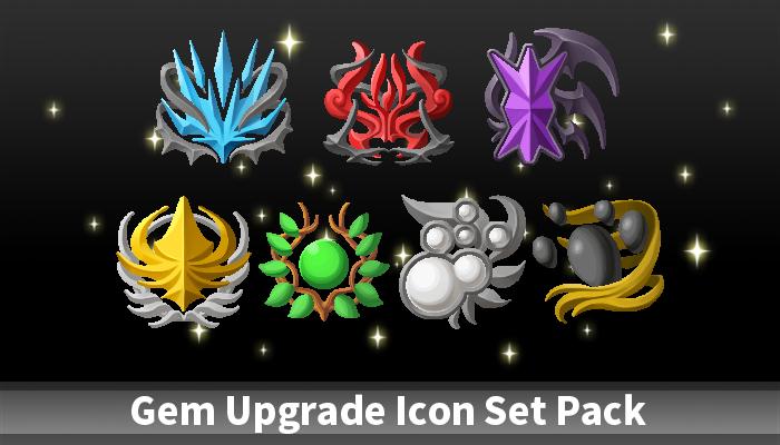 Gem Upgrade Icon Set Pack