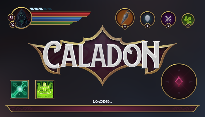 CALADON Fantasy Game Interface GUI
