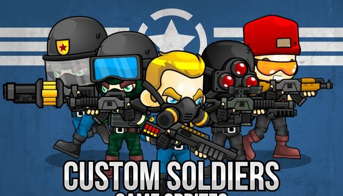 Custom Soldiers – Game Sprites