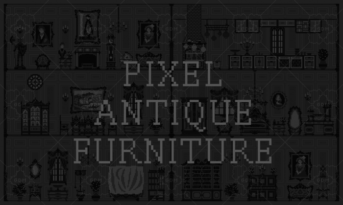 Pixel antique furniture
