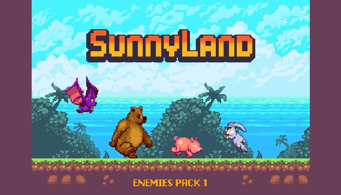 SunnyLand Enemies Pack