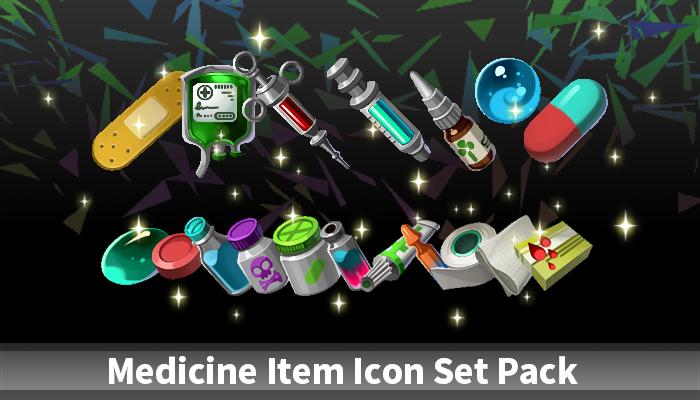 Medicine Item Icon Set Pack