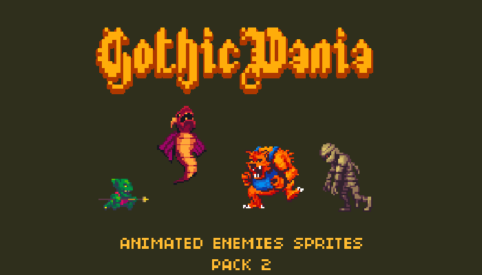 Gothicvania Enemies Pack 2