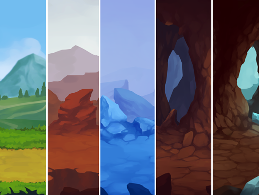 2D Parallax Background Set