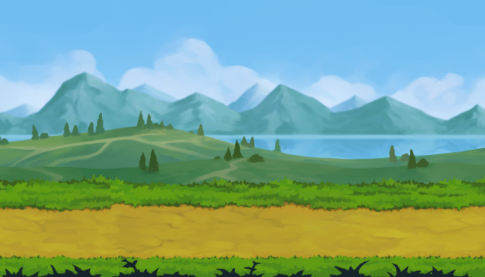2D Field Parallax Background
