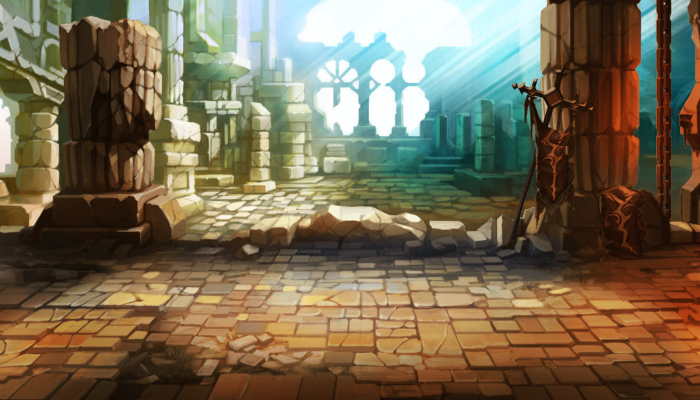 ARCADE STYLE – SCROLLING BACKGROUND – TEMPLE OF RICHES