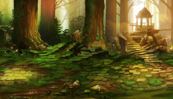 ARCADE STYLE – SCROLLING BACKGROUND – ELVEN FOREST