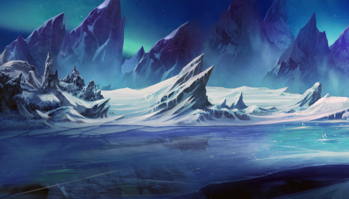 ARCADE STYLE – SCROLLING BACKGROUND – ARCTIC GLACIERS