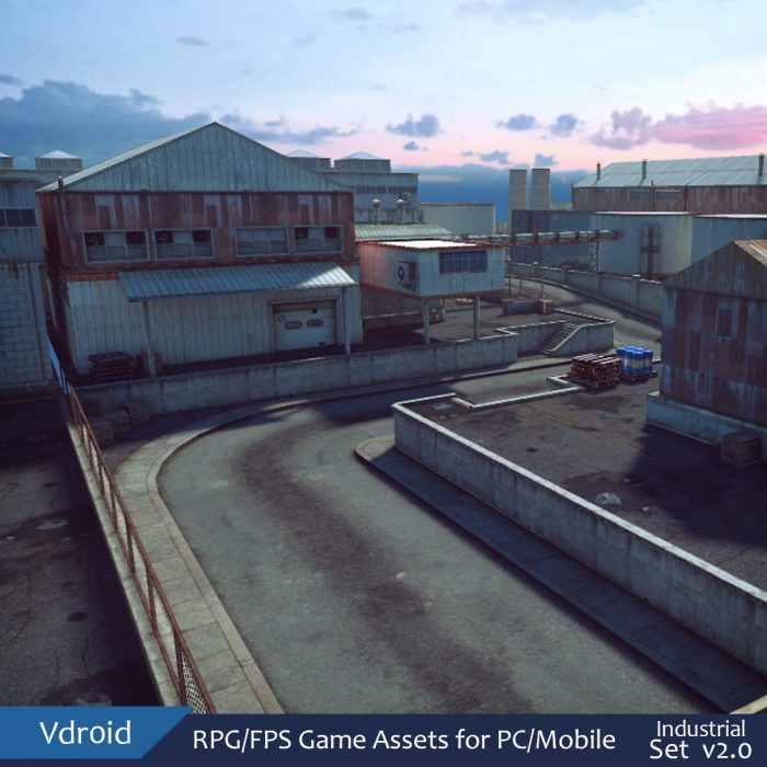RPG/FPS Game Assets for PC/Mobile (Industrial Set v2.0)
