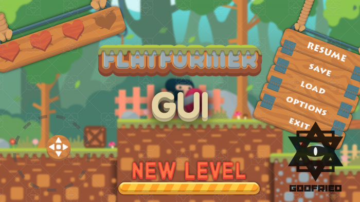 Wooden GUI Asset | Flatformer Game Assets