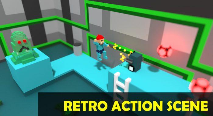 Retro Action Scene