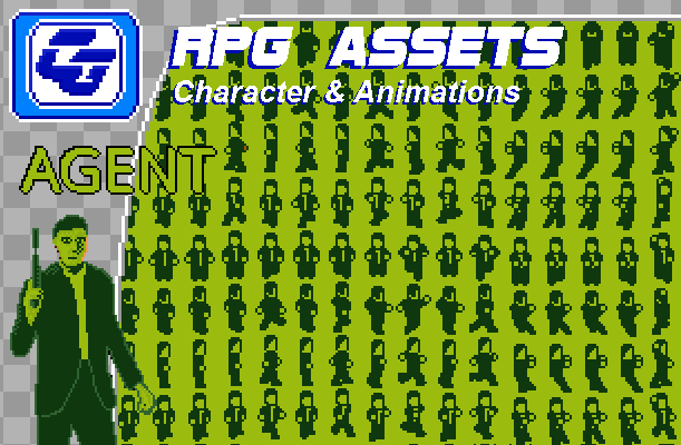 RPG Asset Character 'Agent' GB