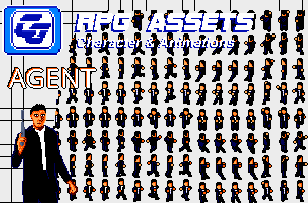 RPG Asset Character 'Agent' SMS