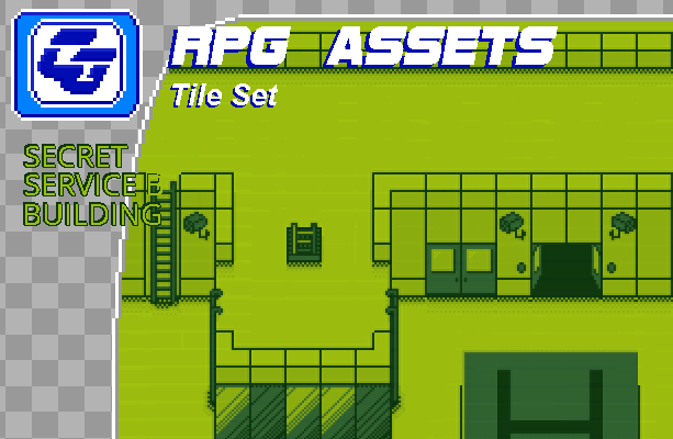 RPG Asset Tile Set ' Secret Service building' GB