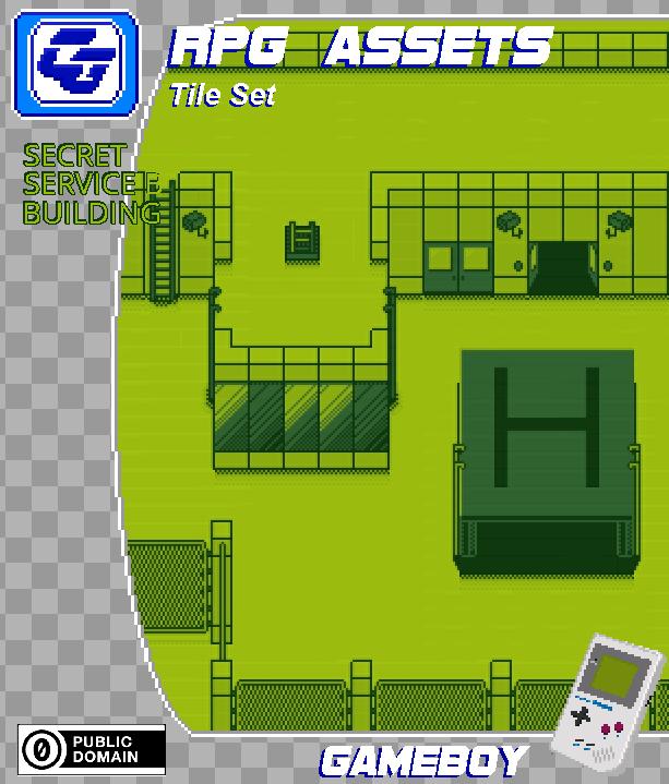RPG Asset Tile Set ' Secret Service building' GB