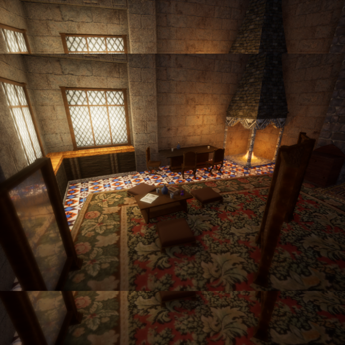 Medieval Common House Interior